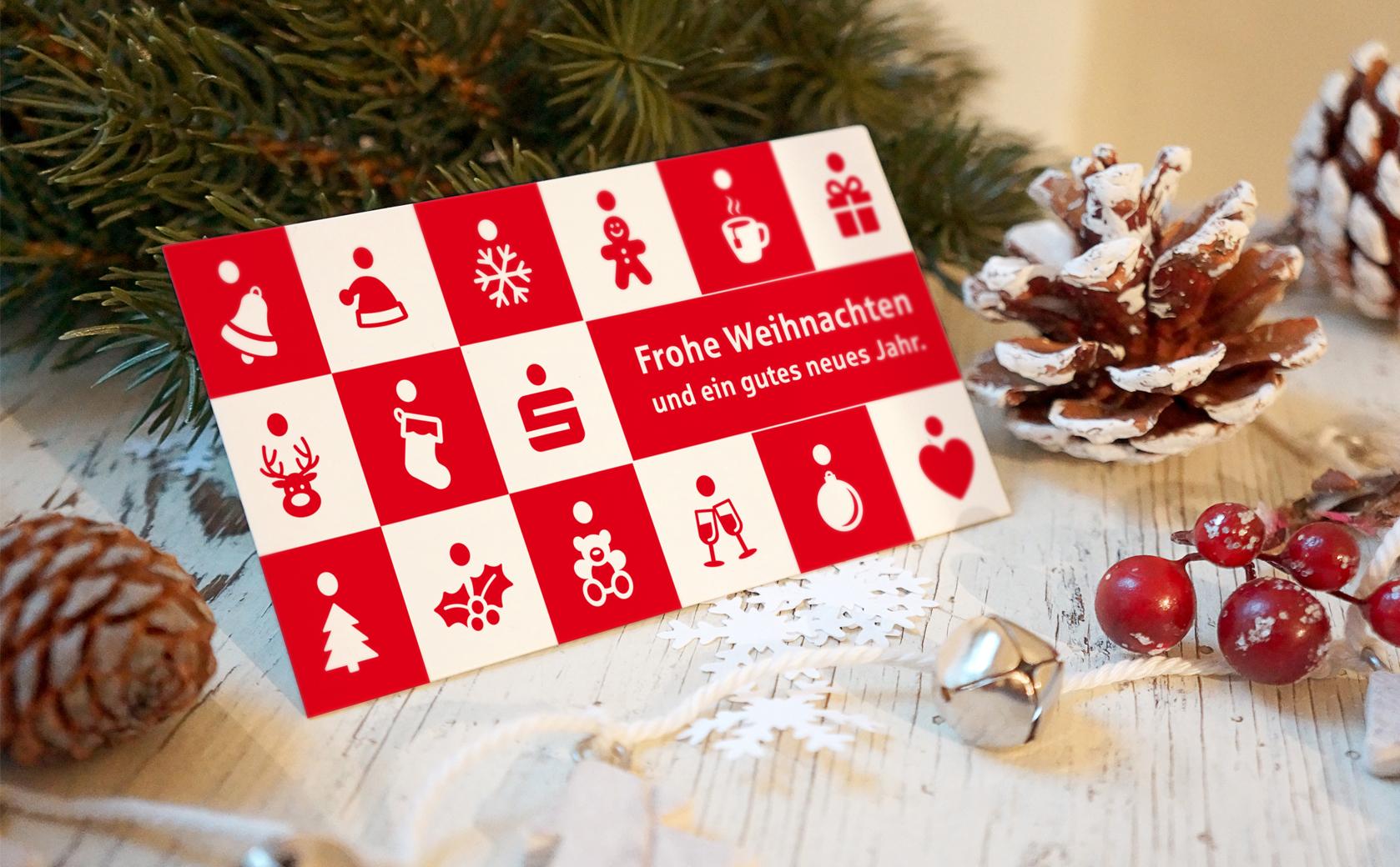 Sparkasse Weihnachtskarte