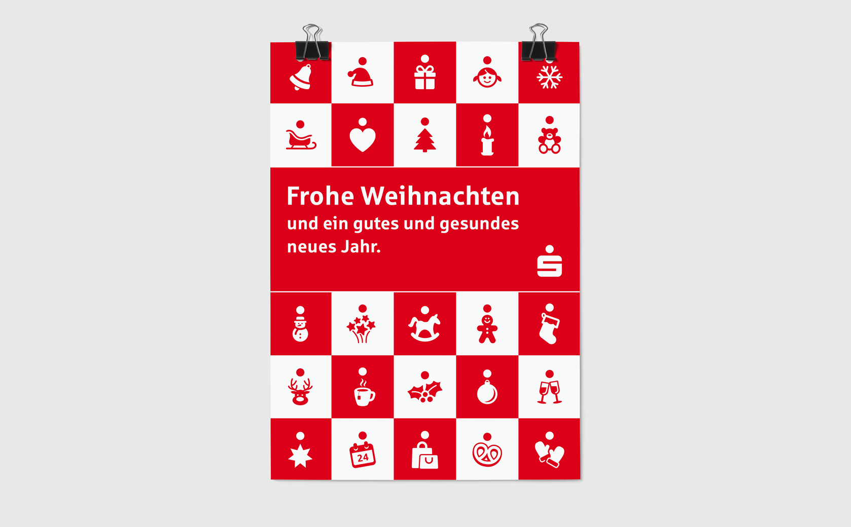 Sparkasse Weihnachten Plakat